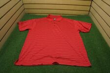 NEW Page & Tuttle Golf Cool Swing Polo Mens Size Large Red/Silver  Clothing