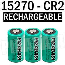 3 PILE ACCU BATTERIE 15270 CR2 CR-2 Li-ion 3V 800Mah RECHARGEABLE