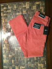 7 FOR ALL MANKIND LUXE PERFORMANCE SATEEN THE STRAIGHT IN ORANGE SIZE 28x33