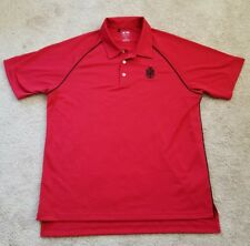 Adidas climalite short sleeved golf polo shirt sz M red