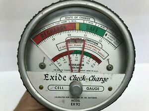 Vintage Exide EX92 Check Charge Service Station Battery Tester UNTESTED