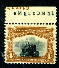 EFO 296 BLACK INSERT SHIFTED DOWN INTO BROWN FRAME VF MNH ENGRAVERS INITIALS
