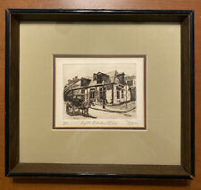 Lafitte's Blacksmith Shop Phillip Sage Signed Numbered Etching 1977 New Orleans