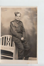 Studio portrait of Soldier John Shiells in 1941 by Pictorial Studios, Redcar