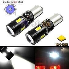 2pcs Error Free White Bay9s H21W 64136 XB-D LED Bulbs for VW CC Backup Lights