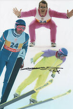 EDDIE 'THE EAGLE' EDWARDS Signed 12x8 Photo WINTER OLYMPICS Ski Jump COA