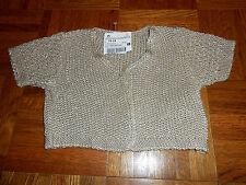 NEW Spain Boutique ZARA baby 18-24 Beige Cardigan Sweater Party Xmas