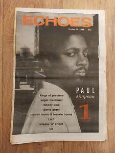 ECHOES MAGAZINE 14 OCTOBER 1989 PAUL SIMPSON DADDY BLUE DAVID GRANT T.U.F.