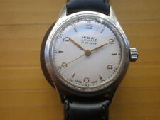 Vintage SWISS MICAL 17 Jewels Automatic Bumper Men's Watch,Military style