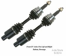 Pair: 2 New Front CV Axles Left and Right With Warranty Fit Dakota Durango