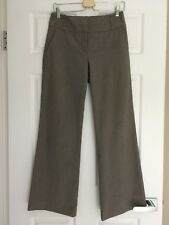 WOMENS, CUE DRESS WORK PANTS, SIZE 8, BEIGE, STRAIGHT WIDE LEG, POLY/VISC #1300