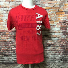 AEROPOSTALE MEN'S WASHED COTTON PATCHED CREW NECK T-SHIRT SIZE M  A34-16