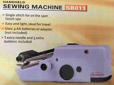 NEW SUNBEAM HANDHELD SEWING MACHINE Portable Electric Cordless Fabric Battery