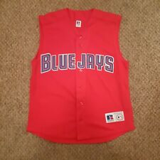 Toronto Blue Jays Sleeveless Stitched Russell Baseball MLB Jersey Red Sz Medium