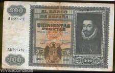500 pesetas 9 Enero 1940 Don Juan de Austria @@  Bello @@