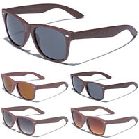 BAMBOO WOOD WOODEN POLARIZED SUNGLASSES Mens Retro Wire Horn Rimmed Iconic Style