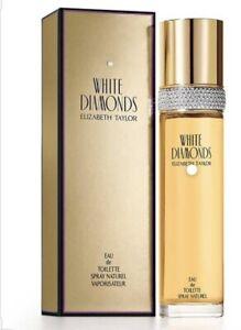 ELIZABETH TAYLOR WHITE DIAMONDS  EAU DE TOILETTE SPRAY 100ML NEW & SEALED