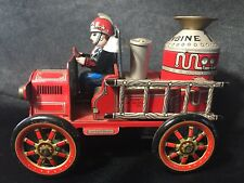 Vintage Modern Toys Japan Tin Friction Sparking Toy Fire Engine Truck Excellent