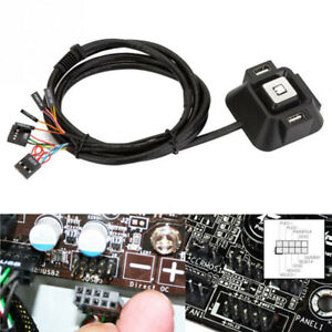 Universal Desktop Computer PC Power Supply on/off Reset HDD Button Switch 1.2m