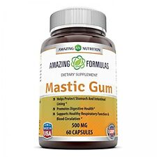 Amazing Nutrition Mastic Gum 500 Mg 60 Capsules Supports Gastrointestinal and