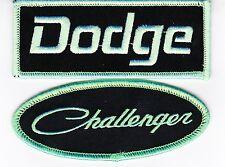 DODGE CHALLENGER BLACK GREEN SEW/IRON ON PATCH EMBROIDERED HEMI MOPAR CAR