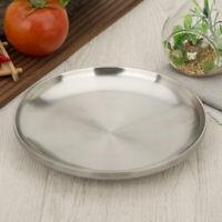 Edelstahl Flache Tellerplatte Doppelte Starke Platte für BBQ Küche 14cm