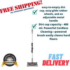 Floor Carpet Sweeper Turbo Vacuum Cleaner Cordless Rechargeable, Driftwood