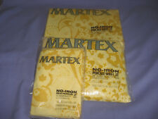 Vtg NOS Martex No-Iron Percale Full Flat and Fitted Sheet 2 Pillowcases Set
