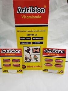 ARTRIBION VITAMINADO 1 DISPLAY 20 Packs x 4 Pills (80 Pastillas) FREE SHIPPING