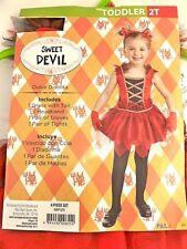 Sweet Devil Costume Dress Toddler Girls Size 2T NEW