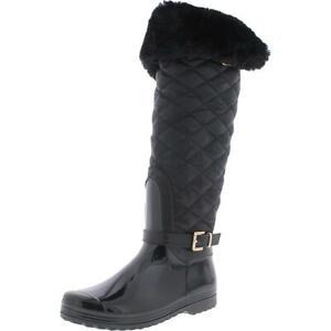 Steve Madden Womens Frosst Rubber Zipper Knee High Rain Boots Shoes BHFO 5939