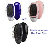 Portable Electric Ionic Hairbrush Takeout Negative Ion Massage Hair Brush Comb