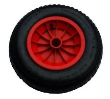 "14"" RED PNEUMATIC WHEELBARROW WHEEL WITH 1"" BORE (3.50/4.00-8)"