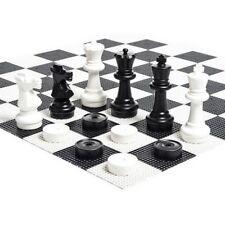 "MegaChess 12"" Chess Set Bundle - Chess, Checkers, and Plastic Board"