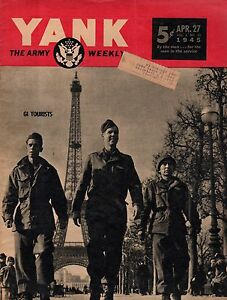 1945 Yank April 27 - Behind Japanese lines on Luzon; Jinx Falkenburg; In Paris