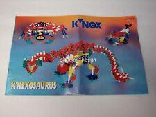 KNEX INSTRUCTION MANUAL ONLY #12511 K'NEXOSAURUS Instructions Knexosaurus Book