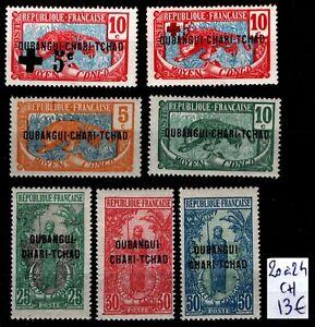 OUBANGUI-CHARI : Série 20 à 24, Neufs * = Cote 13 € / Lot Timbres COLONIES