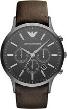 EMPORIO ARMANI AR2462 SPORTIVO MEN'S CHRONOGRAPH LEATHER STRAP WATCH - RRP £329