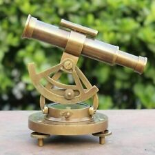 Antique Maritime Alidade Compass Vintage Theodolite Telescope Collectible Gift