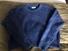 Isabel Marant Womens Boxy Blue Wool Sweater, 38 Small/Medium