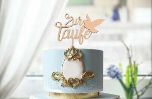 Torten Topper, Cake Topper, Taufe, Personalisiert