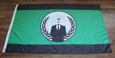 New Green Black Anonymous Flag Occupy Government Protest Anon Disobey Legion