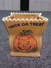Halloween Pumpkin Ceramic Bag Candle Holder