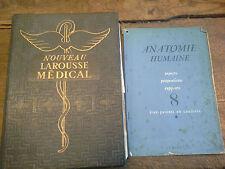 Nouveau Larousse médical 1952 + fascicule amovible  anatomie humaine