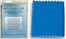 6 World Brand 100% Cotton 2 Part Jewelry Polishing Cloths Sliver Gold Platinum