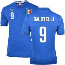 PUMA Italy ITALIA FIGC Mario Balotelli Home Shirt Top Blue Mens 747249 01r UK M