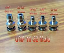 "Fitting UNF 10-32 Male to Barb 1/16"" or 2mm Hose ID U-Z51"