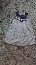 Girls Bonnie Jean Blue checkered dress size 5