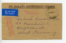 Malawi 1976 official cover to Germany (R162)