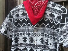 Southwestern Design Men's Size Large Short Sleeve Button Down Shirt